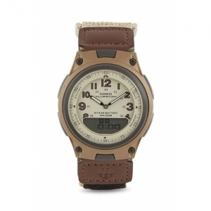 Casio Youth Series AW-80V-5BVDF Brown Leather Analog Watch
