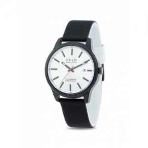 Daniel Klein DK.1.12276-2 Black Genuine Leather Analog Watch