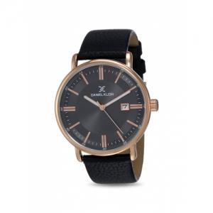 Daniel Klein DK12012-2 Black Genuine Leather  Analog Watch