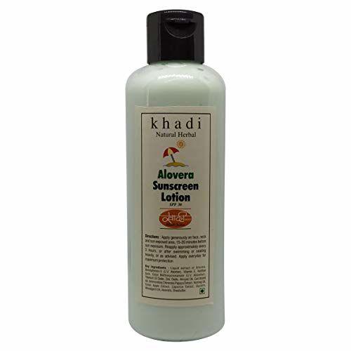 KHADI NATURAL Khadi Herbal Aloe Vera Sun Expert SPF 30 PA Fairness UV Sunscreen Lotion, 200 ml