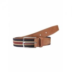 ECHT Multicolour Leather Striped Belt