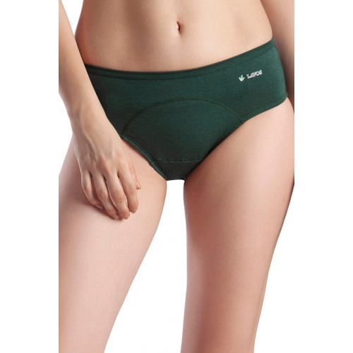 Lavos High Rise No Stain Period Hipster Brief - Green