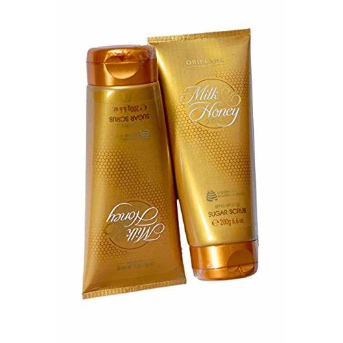 Oriflame Milk & Honey Gold Smoothing Sugar Scrub 200ml with Organically Sourced Extracts of Milk & Honey-31601