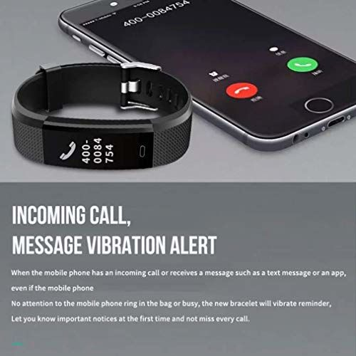 TISWAQ ID115 Bluetooth Fitness Band Smart Watch Tracker with Heart Rate Sensor Activity Tracker Waterproof Body Functions Like Steps and Calorie Counter, Blood