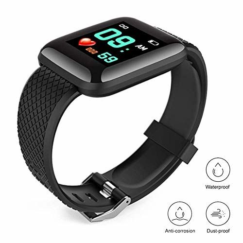 SYZYGY Fitness Band Watch with 1.3 Inch Color Display Multi Touch, 10 Days Working, Multi Function, Alarm, Sleep, Blood Pressure Monitor Clock Reminder, Alarm