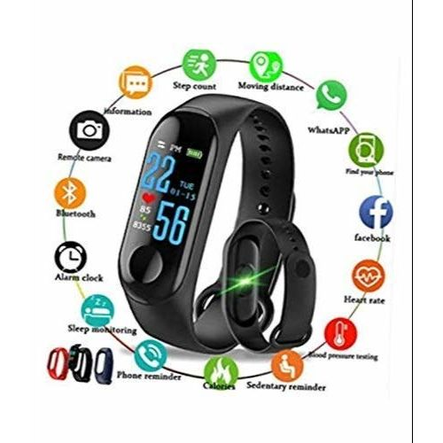 SYZYGY M3 Band Heart Rate Monitor OLED Display Bluetooth 4.0 Waterproof Sports Health Activity Fitness Tracker Silicone Smart Bracelet