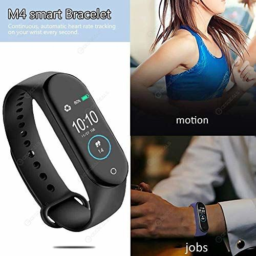 Generic ZENOCELL Smart Band Fitness Tracker Watch with Heart Rate, Activity Tracker Waterproof Body Functions Like Steps Counter, Calorie Counter, Blood