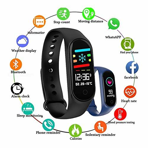 Digibuff M4Plus Bluetooth Wireless Smart Fitness Band for Boys/Men/Kids/Women   Sports Watch Compatible with Xiaomi, Oppo, Vivo Mobile Phone   Heart Rate and BP
