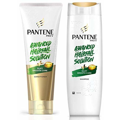 Pantene Advanced Hair Fall Solution Silky Smooth Care Conditioner, 180 ml And Pantene Advanced Hair Fall Solution Silky Smooth Care Shampoo, 340 ml
