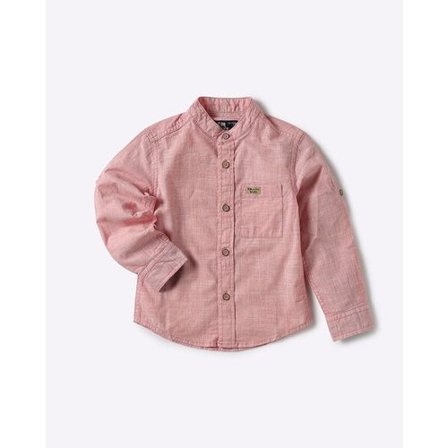 FLYING MACHINE KIDS Textured Shirt with Patch Pocket
