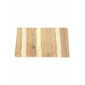 Neska Moda Beige Cotton Striped Shape Door Mat