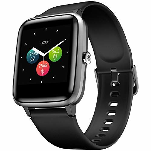 Noise Black Silicon Full Touch Control Smart Watch