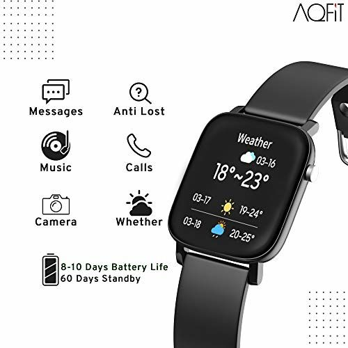 AQFIT W11 Smartwatch IP68 Waterproof Fitness Tracker | 1.4