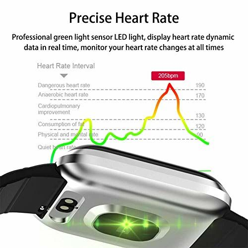 Heypex FG56 116 Smart Watch Intelligent Waterproof Fitness Tracker Smart Band with Heart Rate Sensor | Step Counter | Calorie Counter & Blood Pressure Measure