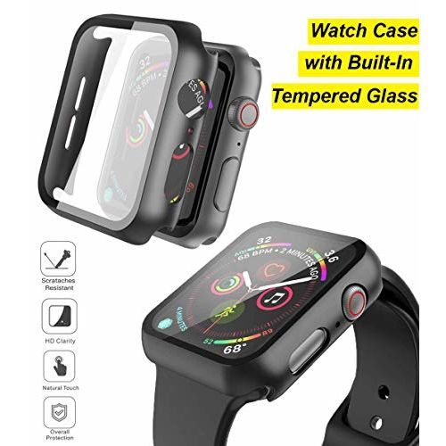 JUMP START Apple Watch 42mm iWatch Case with Built-in Tempered Glass Screen Protector Designed for Apple iWatch Series 3/2/1 (42mm) [Snap On Design]