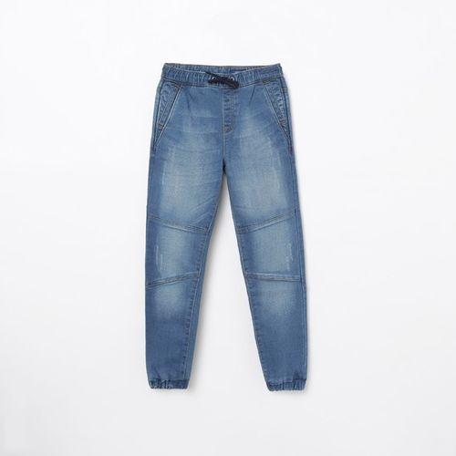 FAME FOREVER YOUNG Stonewashed Denim Joggers