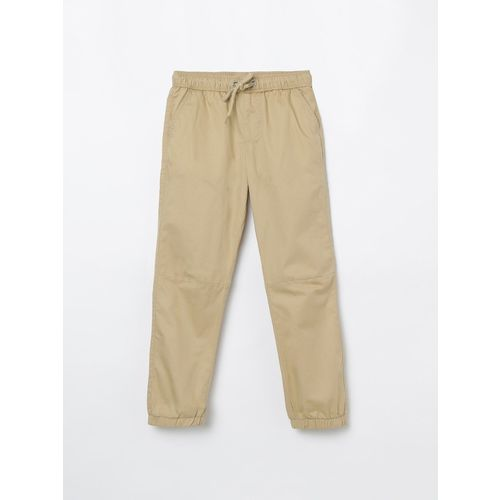 FAME FOREVER Regular Fit Boys Beige Trousers