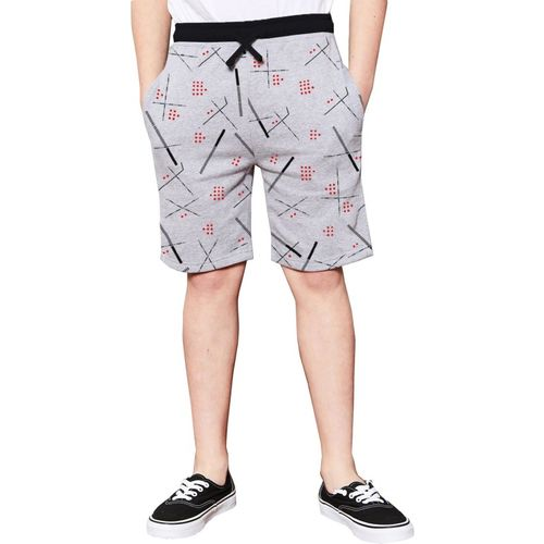 Tripr Short For Boys Casual Printed Cotton Blend(Grey, Pack of 1)