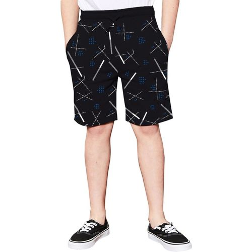 Tripr Short For Boys Casual Printed Cotton Blend(Black, Pack of 1)