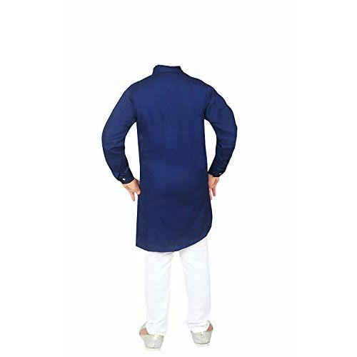 FELIZ THE DESIGNER STUDIO cotton Kurta and Pyjama Set for Boys blue