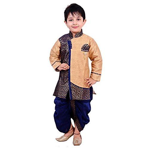 Arshia Fashions Boy's Silk Angrakha Kurta Pyjama