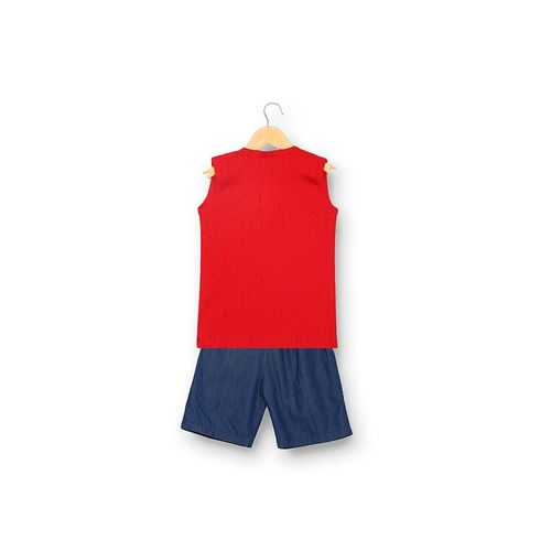 V2 VALUE & VARIETY red cotton shorts twin sets