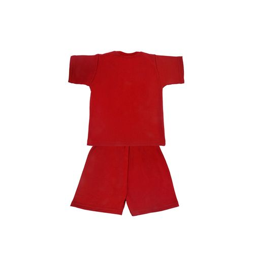 SHAURYA INNOVATION red cotton shorts set