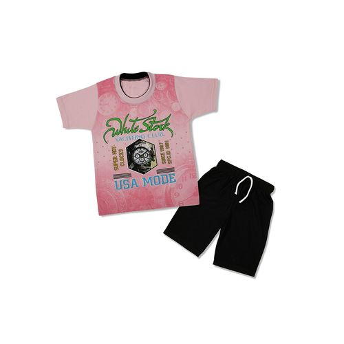 ShopMerry pink cotton shorts set