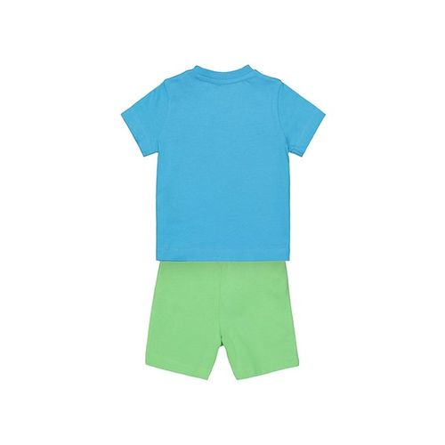 Mothercare Kids Blue & Green Printed T-Shirt With Shorts