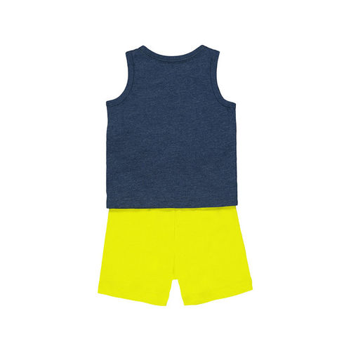 Mothercare Kids Navy & Green Printed T-Shirt With Shorts