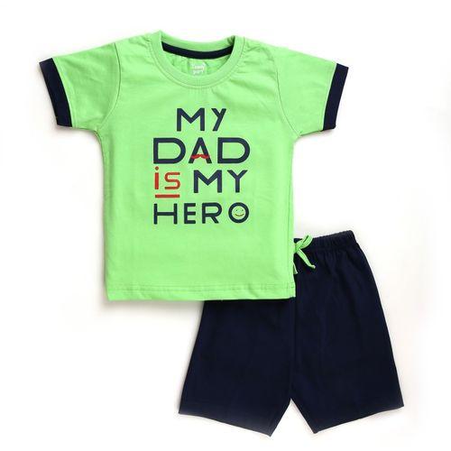 TOONYPORT Baby Boys Casual T-shirt Shorts(Green)