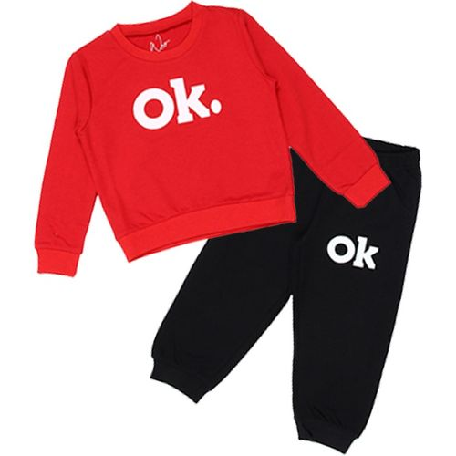 NOT Baby Boys & Baby Girls Party(Festive) T-shirt Pant(Red)