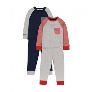 Mothercare Kids Multicolor Printed T-Shirt With Joggers (Pack of 2)