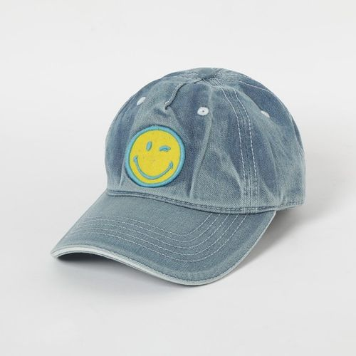 SMILEY Textured Baseball Cap with Branding