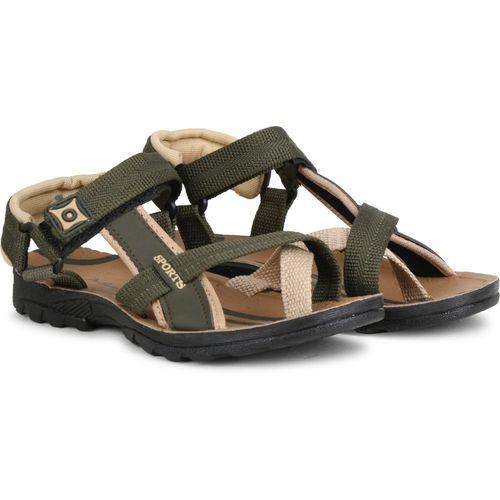 Claptrap Boys Velcro Sports Sandals(Green)