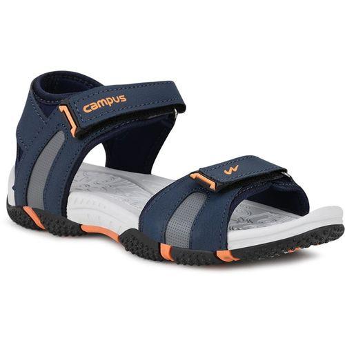 Campus Boys Velcro Sports Sandals(Blue)