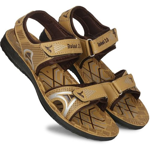 Claptrap Boys Velcro Sports Sandals(Brown)