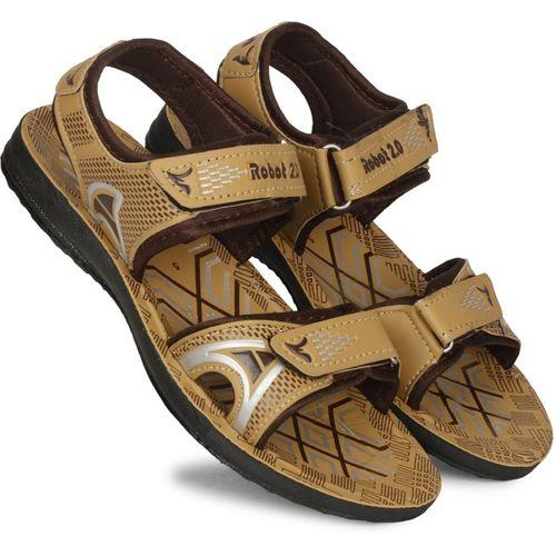Claptrap Boys Velcro Sports Sandals(Brown)