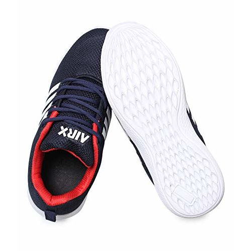 TRASE SR81-A11 Navy Red Sports Shoes for Boys - 2 UK