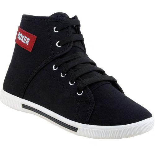 Tying Boys Lace Sneakers(Black)