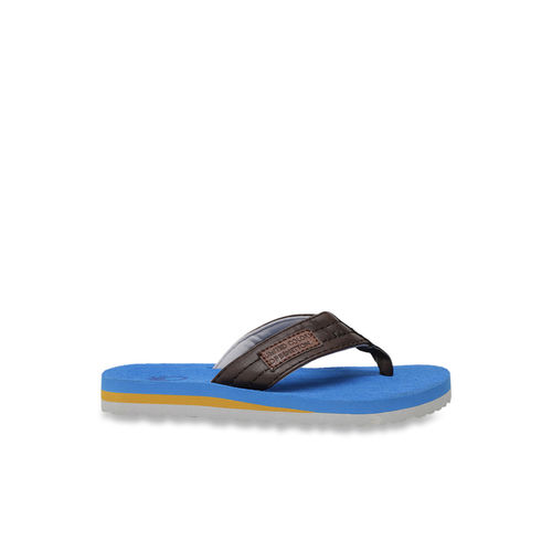 United Colors of Benetton Kids Blue & Brown Flip Flops