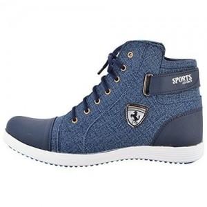 Essence Blue Round Toe Shoes For Men