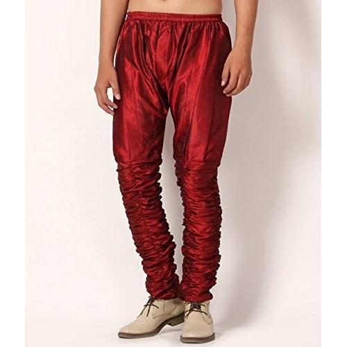 Royal Kurta Men's Maroon Silk Blend Harem Pants