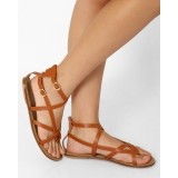 AJIO Strappy Flat Sandal with Buckles