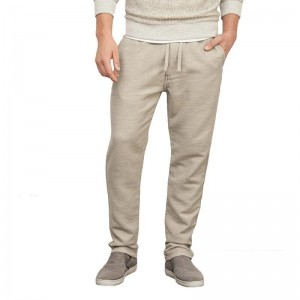 Abercrombie & Fitch Off White Cotton Solid Joggers