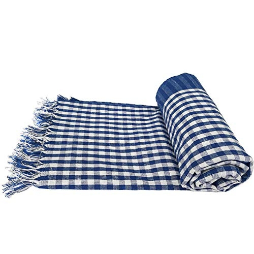 Mesh Masters Multi Color Pure Cotton Checked Towels 1 Year Guarantee XXXL 36inches/72inches(3 feet/6feet) 90cms/180cms (Pack:4) 800 GSM