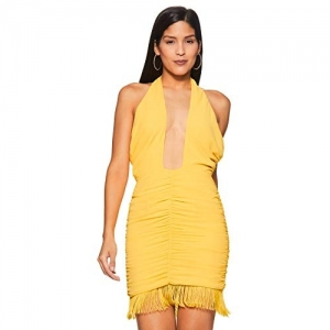 Forever 21 Yellow Synthetic Bodycon Dress