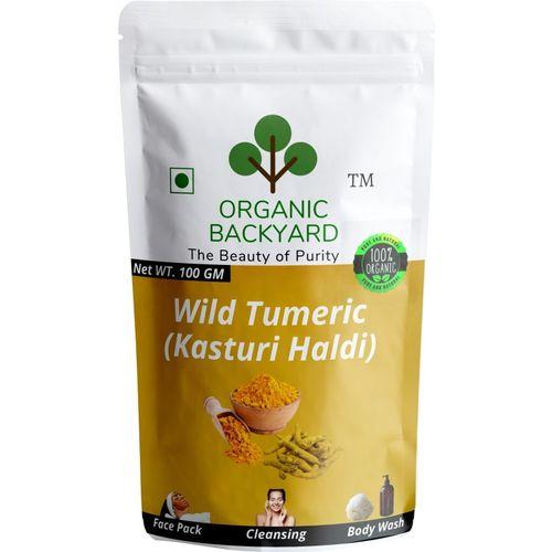 Organic Backyard 100% Natural Wild Turmeric Powder (Kasturi Manjal / Amba Haldi / Jangli Haldi)(100 g)