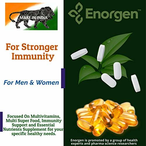 ENORGEN Probiotics For Digestive Support and Immunity Booster For Adults Men & Women