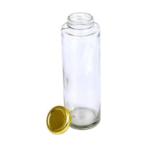Crystawoods 500 Ml Bamboo Glass Jarlid For Kitchen Storage Glass (Pack Of 3, Clear )- 500 Ml Glass Grocery Container (Pack Of 3)